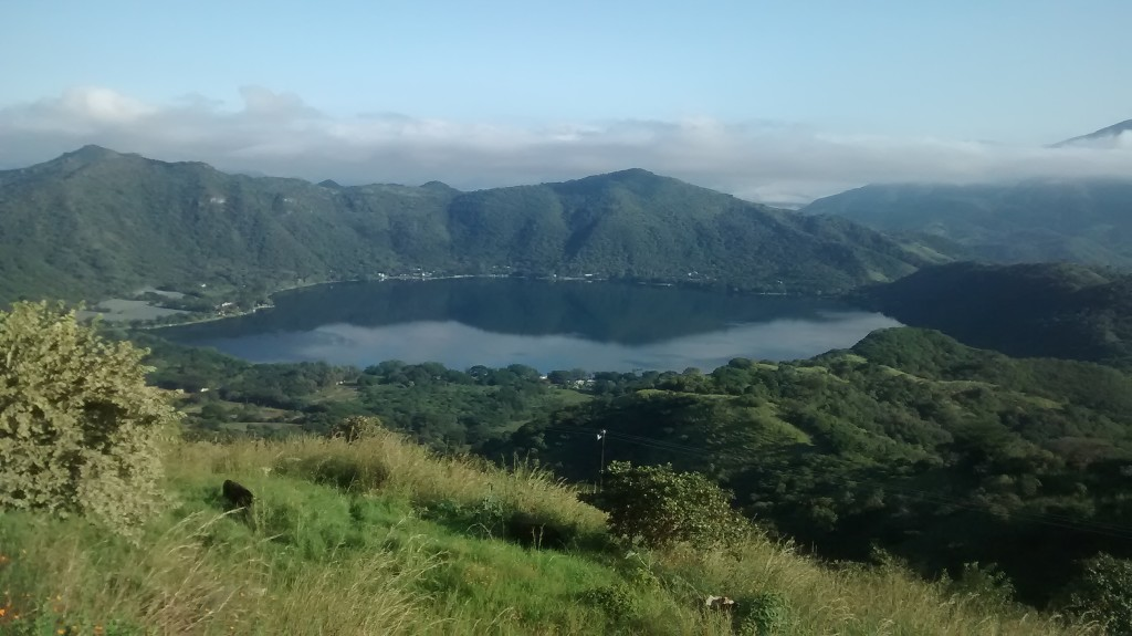 Blick auf die Laguna Santa Maria del Oro